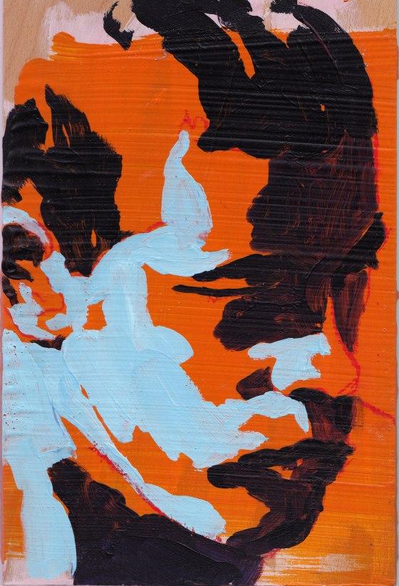 portrait auf casani blau orange