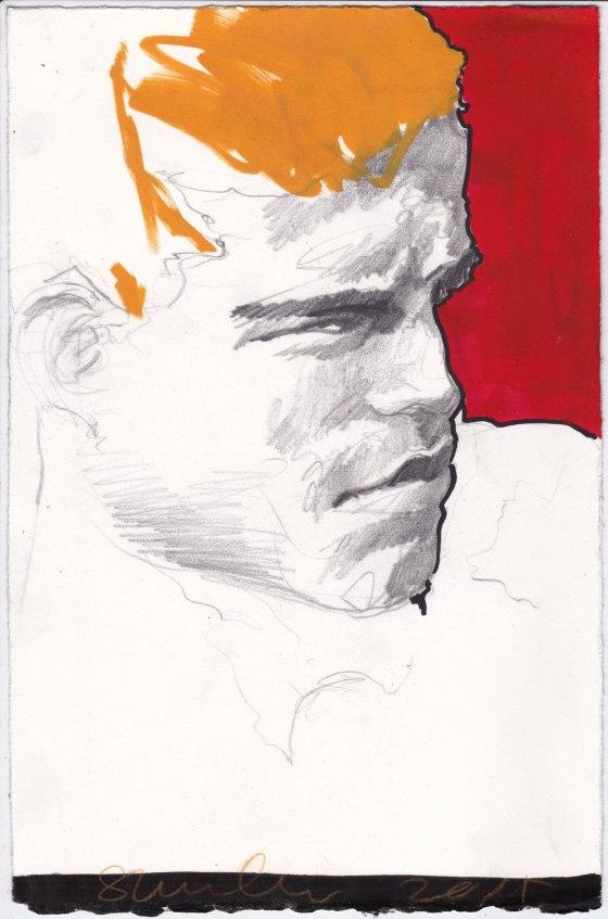 gay man with orange hair